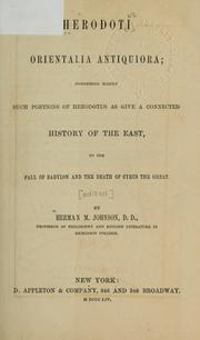 Cover of: Orientalia antiquiora by Herodotus