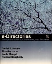 Cover of: e-Directories by Daniel E. House