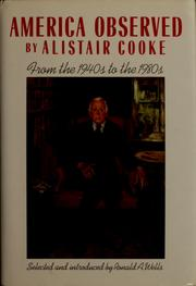 America observed by Alistair Cooke