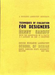 Techniques of evaluation for designers PDF