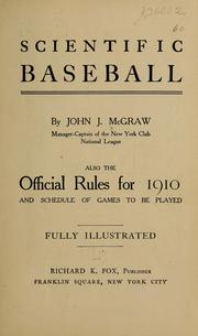 Cover of: Scientific baseball by John Joseph McGraw