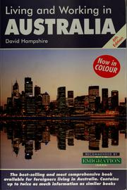 Living and working in Australia by David Hampshire