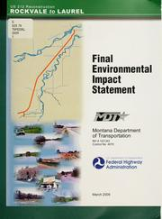 Cover of: Final environmental impact statement for NH 4-1(21)43 Rockvale-Laurel (PPMS-OPX2 Control #4070) in Yellowstone and Carbon Counties, Montana by United States. Federal Highway Administration.