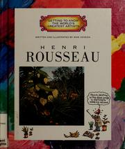 Cover of: Henri Rousseau (Getting to Know the World's Greatest Artists) by Mike Venezia