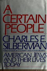 A Certain People by Charles E. Silberman