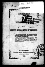 Constitution et rglements de la Socit mercantile d&#39;conomie by Socit mercantile d&#39;conomie