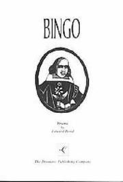 Cover of: Bingo by Bond, Edward.