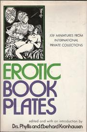 Cover of: Erotic bookplates by Drs. Phyllis and Eberhard Kronhausen, Eberhard Kronhausen