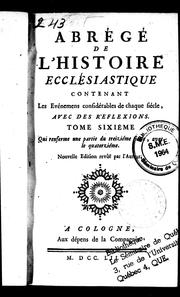 Abrg de l&#39;histoire ecclsiastique by Bonaventure Racine