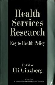 Cover of: Health services research by Eli Ginzberg