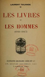 Les livres et les hommes (1916-1917) by Laurent Tailhade