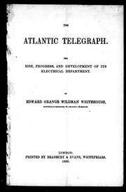 The Atlantic telegraph by Edward Orange Wildman Whitehouse