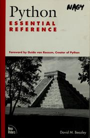 Python essential reference by David M. Beazley