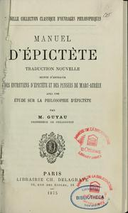 Manuel d&#39;Epictte by Epictetus
