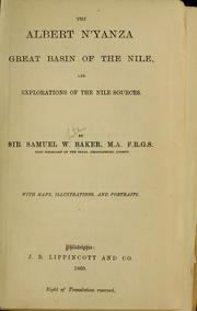 Cover of: The Albert N'yaza by Baker, Samuel White Sir
