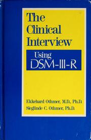 Cover of: The clinical interview using DSM-III-R by Ekkehard Othmer