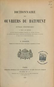 Dictionnaire des ouvriers du bâtiment ...