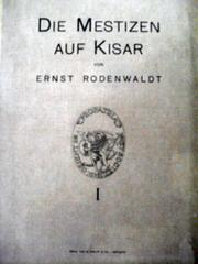 Cover of: Die Mestizen auf Kisar by E. Rodenwaldt