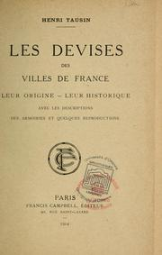 Les devises des villes de France by Henri Tausin