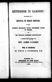 Methodism in earnest by James Caughey
