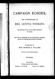Cover of: Campaign echoes by Letitia Youmans