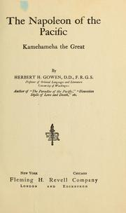The Napoleon of the Pacific by Herbert H. Gowen