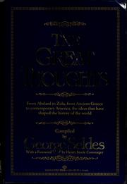 The Great thoughts by George Seldes