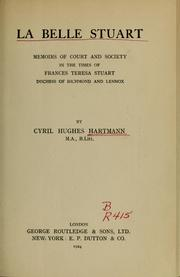 Cover of: La belle Stuart by Cyril Hughes Hartmann