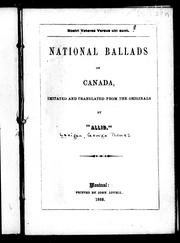 National ballads of Canada by