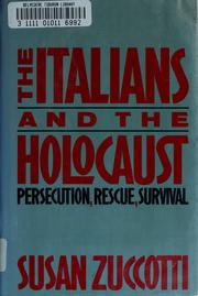 The Italians and the Holocaust by Susan Zuccotti