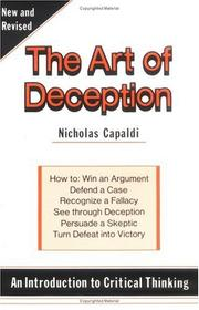 The art of deception by Nicholas Capaldi