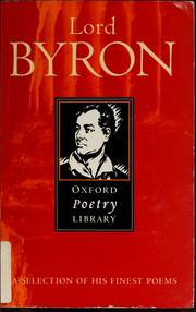 Cover of: Byron by Lord Byron