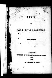 India and Lord Ellenborough by