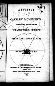 Abstract of cavalry movements by Upper Canada. Militia