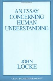 Essay concerning human understanding by John Locke
