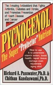 Cover of: Pycnogenol by Richard A. Passwater