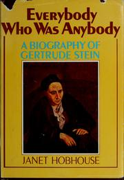 Cover of: Everybody who was anybody by Janet Hobhouse
