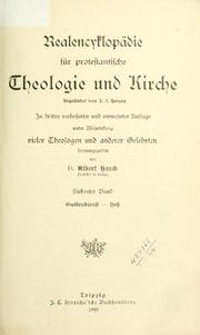 Cover of: Realencyklopdie fr protestantische Theologie und Kirche by begr. von J. J. Herzog, unter Mitw. vieler Theologen und anderer Gelehrten hrsg. von D. Albert Hauck, ...