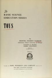 Cover of: Toys by Parker, Bertha Morris