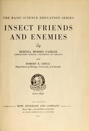 Cover of: Insect friends and enemies by Parker, Bertha Morris