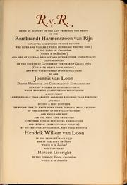 Cover of: R. v. R by Hendrik Willem Van Loon