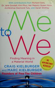 Me to we by Craig Kielburger