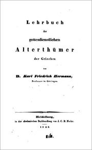 Lehrbuch der griechischen Antiquitten by Karl Friedrich Hermann