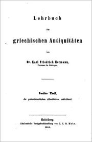 Lehrbuch der griechischen Antiquitten by Karl Friedrich Hermann, Karl Bernhard Stark