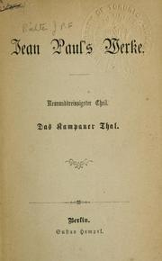 Cover of: Jean Paul's Werke by Jean Paul