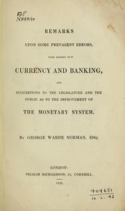 Remarks upon some prevalent errors, with respect to currency and banking PDF