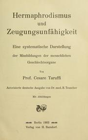 Hermaphrodismus und Zeugungsunfhigkeit by Cesare Taruffi