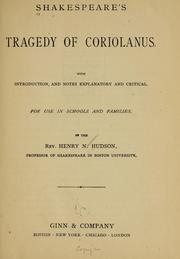 Shakespeare's tragedy of Coriolanus by William Shakespeare