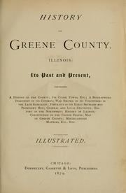 History of Greene County, Illinois by Clement L. Clapp
