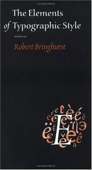 The Elements of Typographic Style by Robert Bringhurst